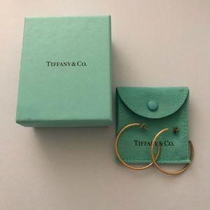 Tiffany & Co. 14k gold hoop earrings